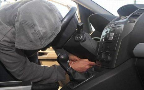 beccati nell'auto appena rubata